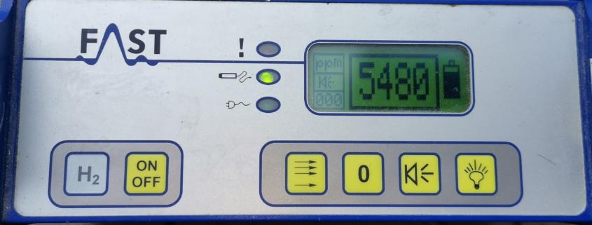 Lokalizacja wycieków wody gazem znacznikowym