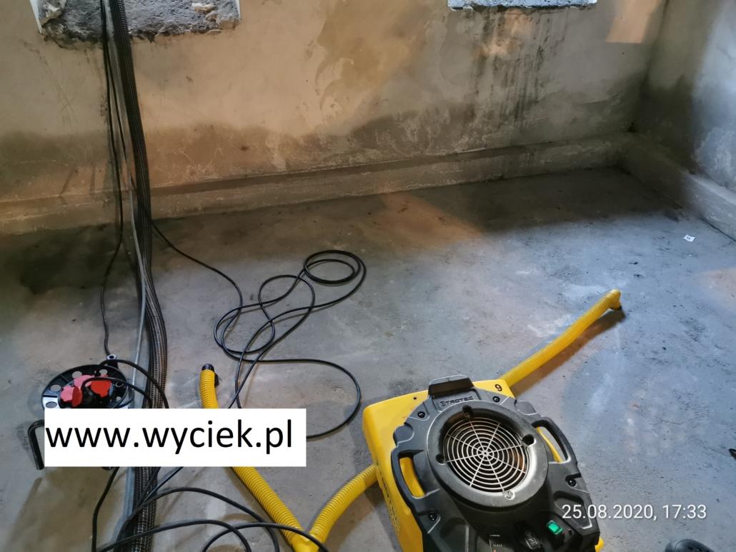 mokre ściany w piwnicy suszenie w Katowicach