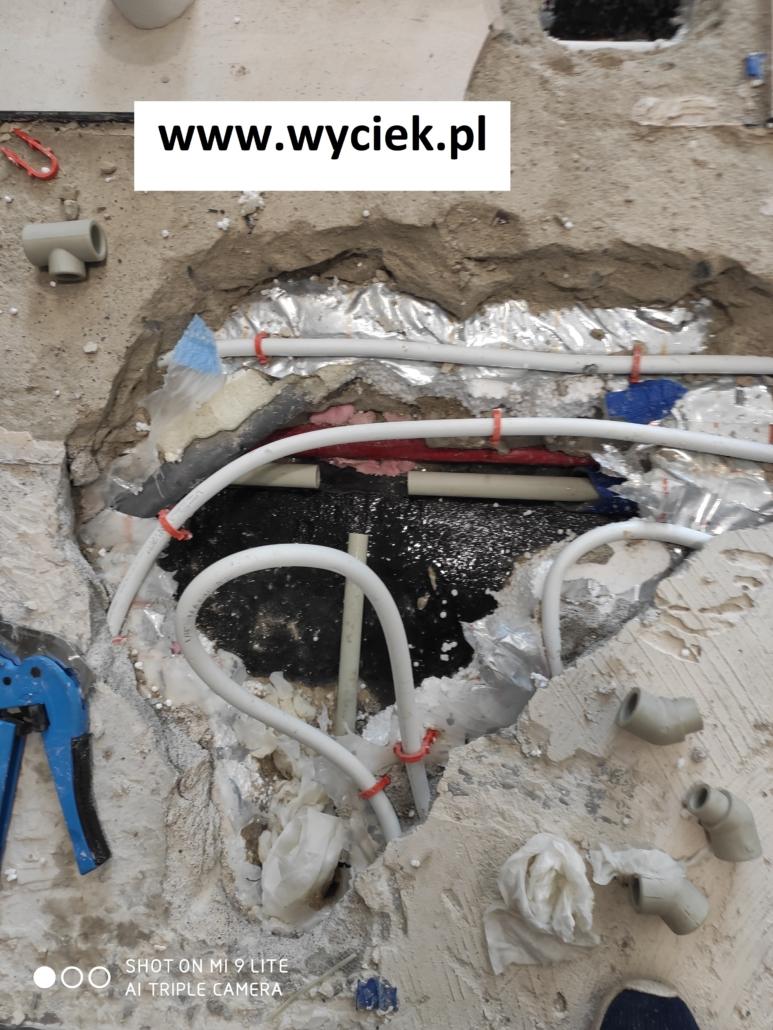 Naprawa instalacji wody pitnej po lokalizacji wycieku wody