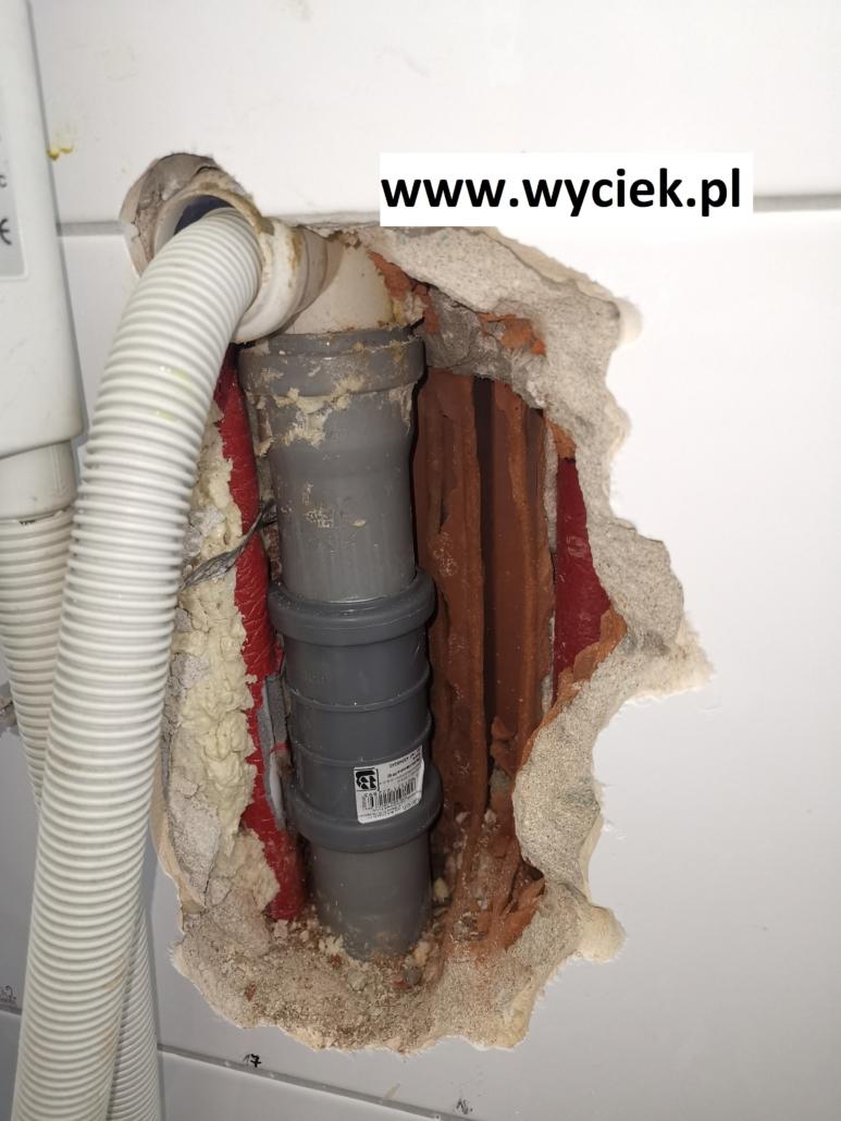 naprawa kanalizacji po zlokalizowaniu wycieku wody